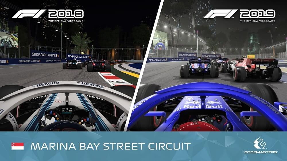 NP: Comparativa de los circuitos de Baréin y Singapur en F1 2019 con respecto a la anterior entrega