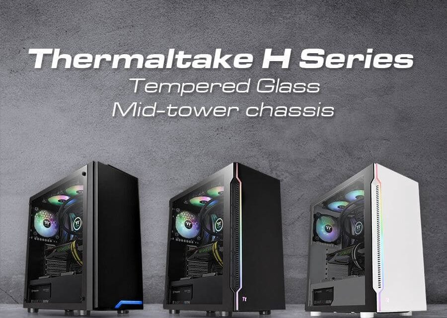 NP: Thermaltake lanza sus nuevas H Series Tempered Glass ATX Mid-Tower Chassis