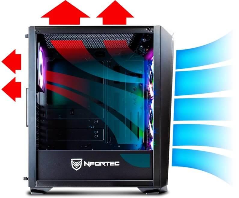 NP: Nfortec presenta su nuevo chasis con frotal mallado y RGB: Krater