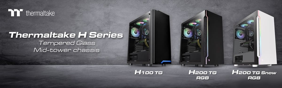 Thermaltake lanza sus nuevas H Series Tempered Glass ATX Mid-Tower Chassis