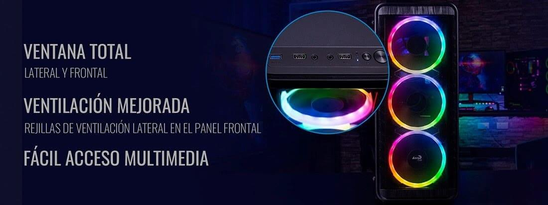 NP: Nueva caja AeroCool SI5200RGB - Triple ventilación, triple iluminación