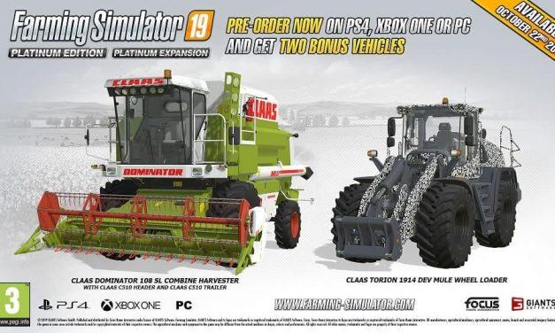 NP: El trailer de la Edición Platinum de Farming Simulator 19 muestra los nuevos vehículos CLAAS