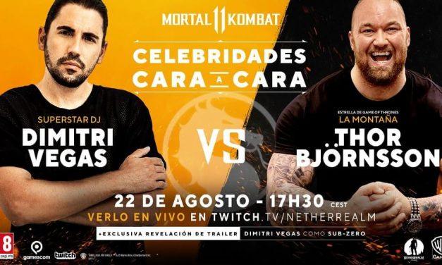 NP: Dimitri Vegas y «La Montaña» en la serie «Juego de Tronos» se enfrentarán en un combate en Mortal Kombat 11 durante la Gamescom 2019