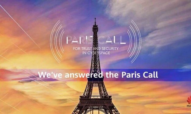 NP: Huawei se suma al acuerdo 'Paris Call' por la confianza y la seguridad en el ciberespacio