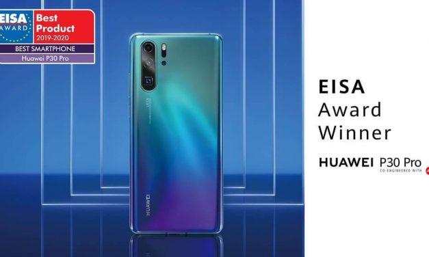 """NP: HUAWEI gana el premio de EISA al """"Mejor Smartphone del Año"""" por segundo año consecutivo con HUAWEI P30 Pro"""