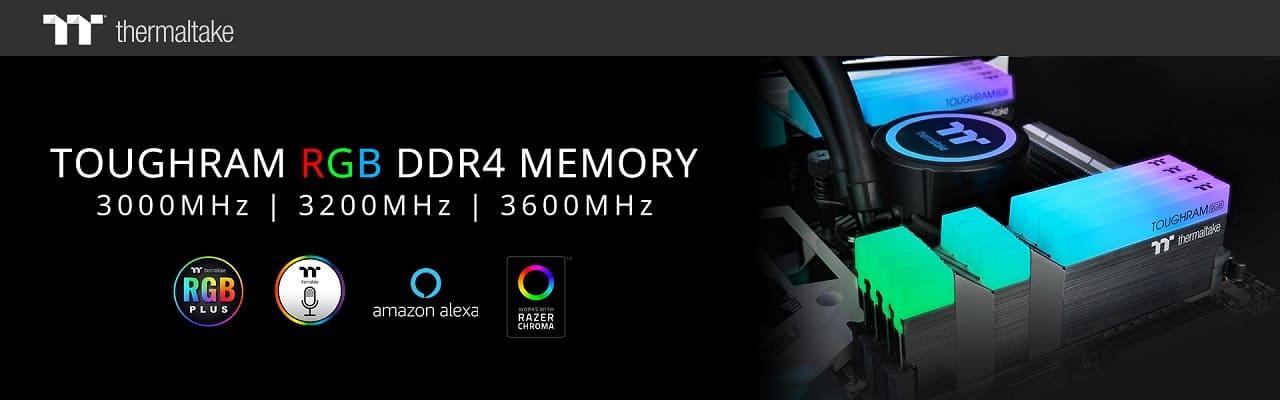 NP: Thermaltake lanza TOUGHRAM RGB DDR4 Memory Series 3600MHz | 3200MHz | 3000MHz 16GB