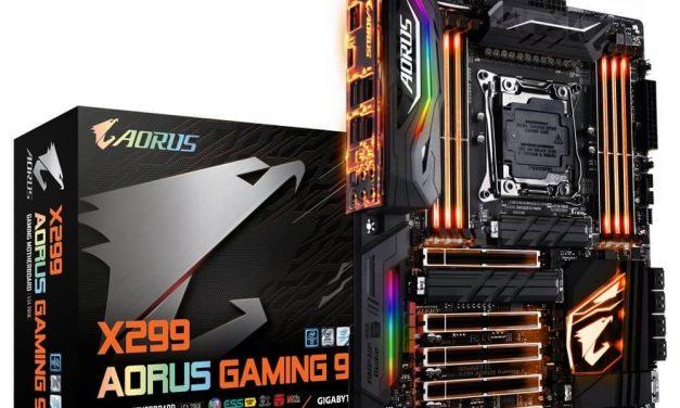 NP: GIGABYTE lanza actualizaciones de BIOS para las nuevas CPU Intel Core X CPUs