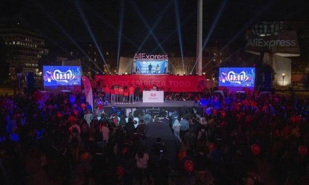 NP: Miles de personas se reúnen en Madrid para celebrar la campaña de AliExpress para el 11.11 Festival Mundial de Compras