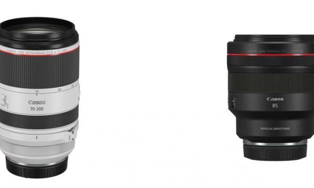 NP: Canon lanza una primicia mundial en objetivos RF, la tercera incorporación a su trío f/2,8L, y un nuevo objetivo para retrato para la montura RF