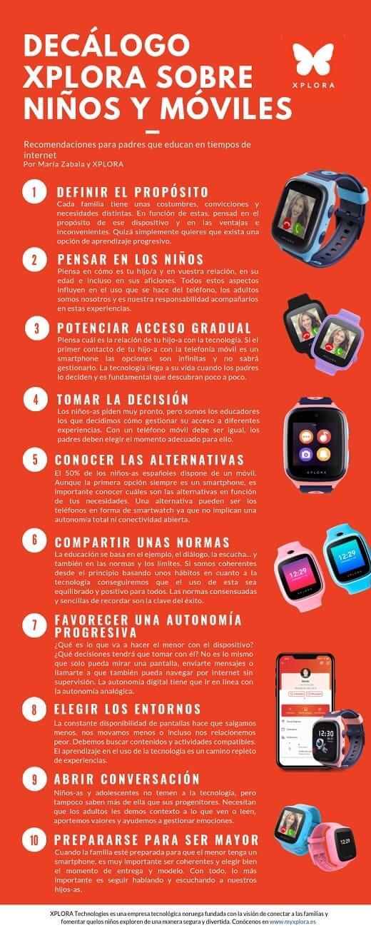 NP: XPLORA presenta el I Estudio y Decálogo sobre niños y móviles para fomentar una introducción segura a la tecnología
