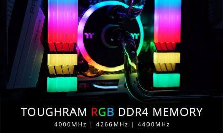NP: Thermaltake lanza kit de memoria de alta frecuencia TOUGHRAM RGB DDR4 4000MHz | 4266MHz | 4400MHz 16GB