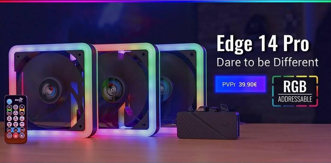 NP: Nuevos Edge 14 PRO – Ventiladores + hub EDGE14PRO de AeroCool