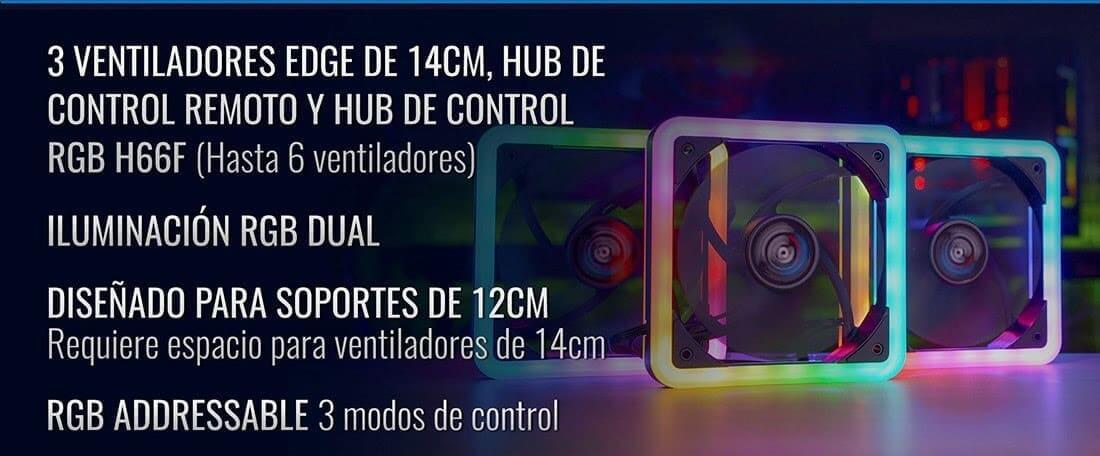 NP: Nuevos Edge 14 PRO - Ventiladores + hub EDGE14PRO de AeroCool