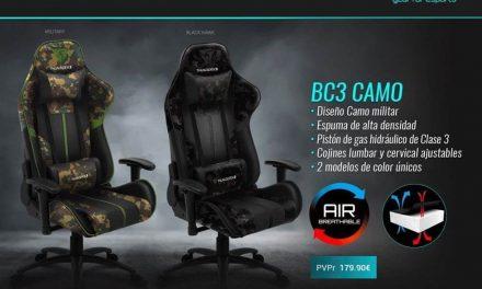 NP: Nueva silla BC3 CAMO de ThunderX3 – Controla la partida con estilo