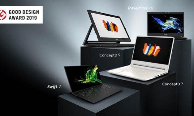 NP: Acer triunfa en los premios Good Design Awards 2019 con los diseños de sus portátiles, incluidos los modelos para creadores ConceptD