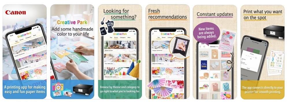NP: Imagina, crea, comparte: personaliza e imprime cientos de diseños de manualidades con la app Canon Creative Park