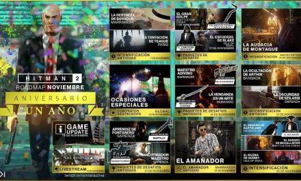 NP: El roadmap de noviembre de HITMAN 2 celebra el primer aniversario con gran variedad de contenido gratuito