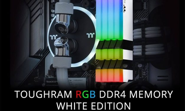NP: Thermaltake lanza el kit de memoria TOUGHRAM RGB DDR4 3200MHz | 3600MHz 16GB White Edition