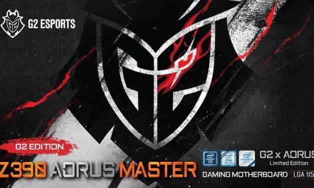 NP: GIGABYTE se une a G2 Esports para lanzar la placa base Z390 AORUS MASTER G2 Edition