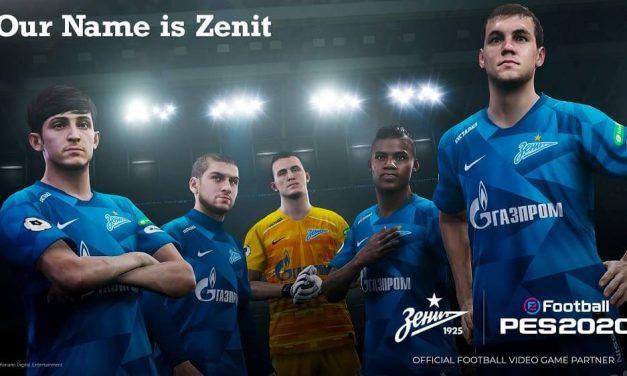 NP: FC Zenit Saint Petersburg se une a la lista de Club Partner de eFootball PES 2020