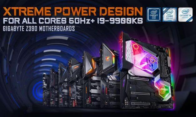 NP: Las placas base GIGABYTE Z390 con refrigeración AORUS AIO están listas para la CPU Intel i9-9900KS