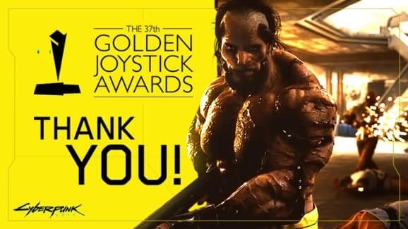 NP: Cyberpunk 2077 se adjudica el Golden Joystick de este año para el juego más buscado