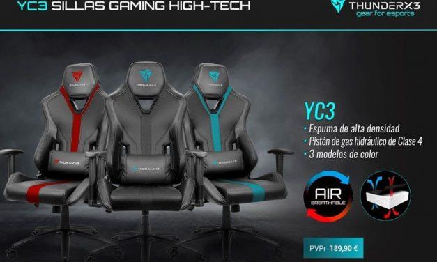 NP: YC3 de ThunderX3 – Minimalismo y ergonomía
