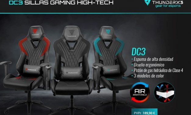 NP: Nueva silla DC3 de ThunderX3 – Confort y diseño exclusivo