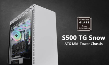 NP: Thermaltake S500 Tempered Glass Snow Edition Mid-Tower Chassis disponible para pre-pedido