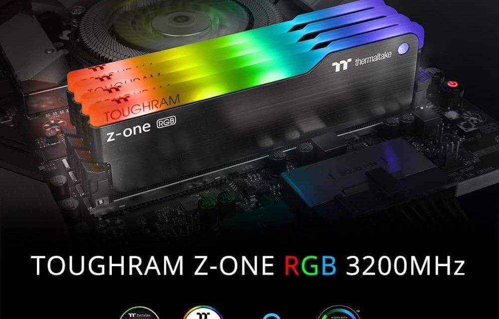 NP: Thermaltake lanza el kit de memoria TOUGHRAM Z-ONE RGB DDR4 3,200MHz 16GB