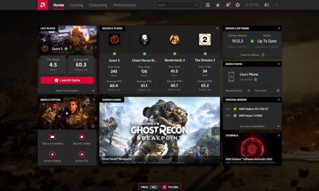 NP: Aprovecha al máximo el gaming Radeon con el software AMD Radeon Adrenalin 2020 Edition