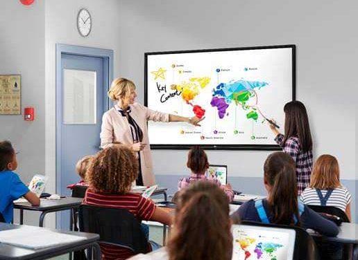 NP: LG presenta su primera pantalla interactiva para entornos educativos