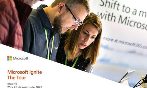 NP: Microsoft Ignite The Tour, el evento técnico estrella de la compañía, llega por primera vez a España