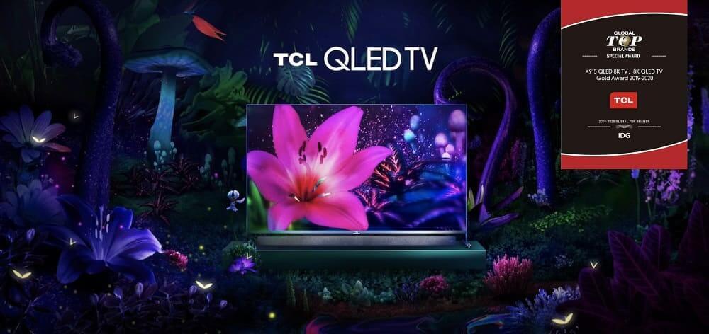NP: TCL gana el Premio Oro 8K QLED TV en reconocimiento a su innovación en el CES 2020