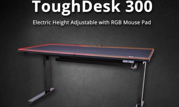 NP: El nuevo Thermaltake ToughDesk 300 con alfombrilla de ratón RGB integrada y CyberChair E500