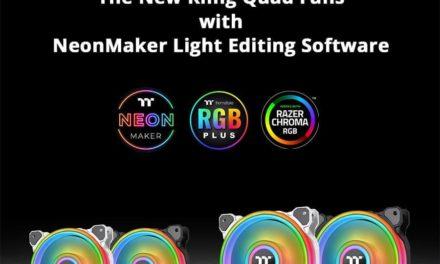 NP: Nuevos ventiladores de radiador Thermaltake Quad 12/14 en blanco y negro así como software de edición de luces NeonMaker