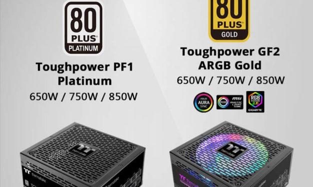 NP: Nuevas fuentes de alimentación analógicas Thermaltake Toughpower PF1 Platinum Series y GF2 ARGB Gold Series