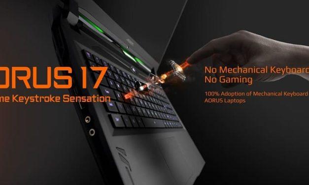 NP: GIGABYTE se centra en los hardcore gamers a través de sus portátiles gaming con teclado mecánico en CES 2020