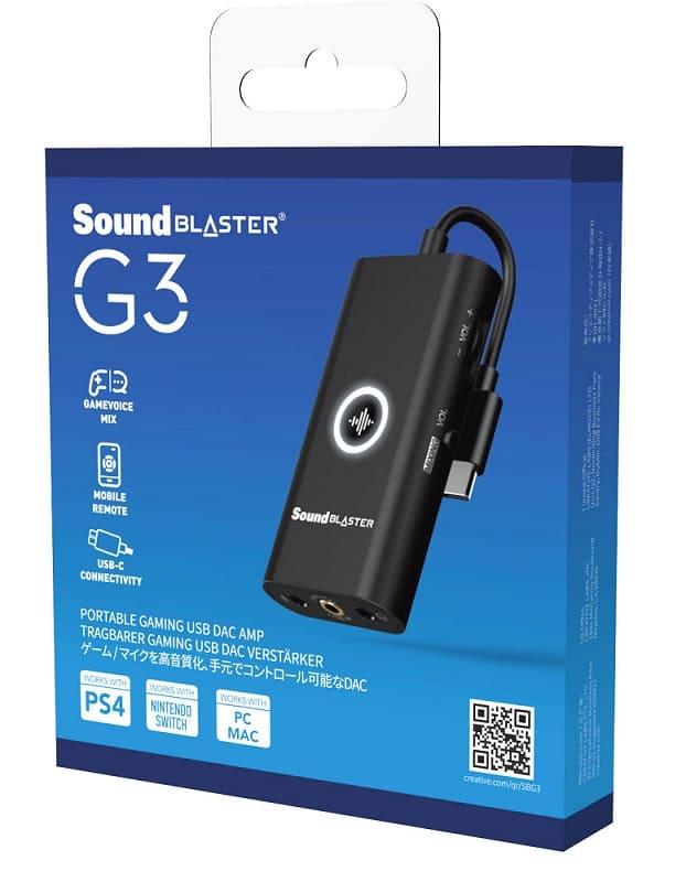 NP: Ya disponible la tarjeta de sonido Sound Blaster G3 para consolas de nueva generación