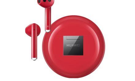 NP: Huawei lanza sus auriculares FreeBuds 3 en color rojo