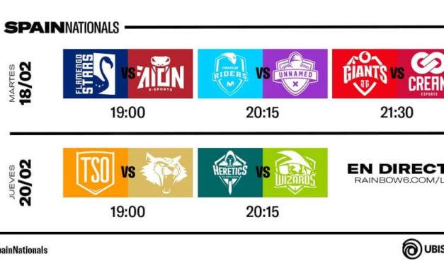 NP: Arranque de la Season 2 de la R6 Spain Nationals el martes 18 de febrero