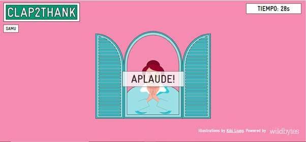 NP: Clap2thank, el juego interactivo que 'escucha' los aplausos de agradecimiento a los sanitarios y los incluye en un ranking global