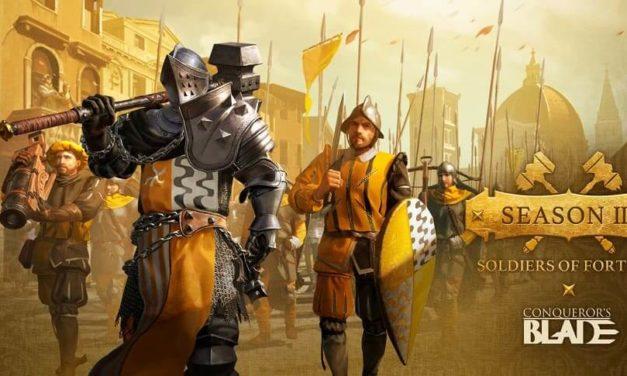 NP: Conqueror's Blade lanza 'Season III: Soldiers of Fortune' el 21 de abril
