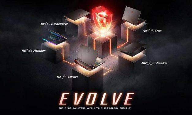 NP: ¡MSI ha evolucionado con 6 series de portátiles completamente renovadas!