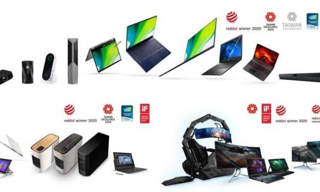 Acer recibe 12 prestigiosos premios Red Dot Awards 2020 por los diseños de sus equipos