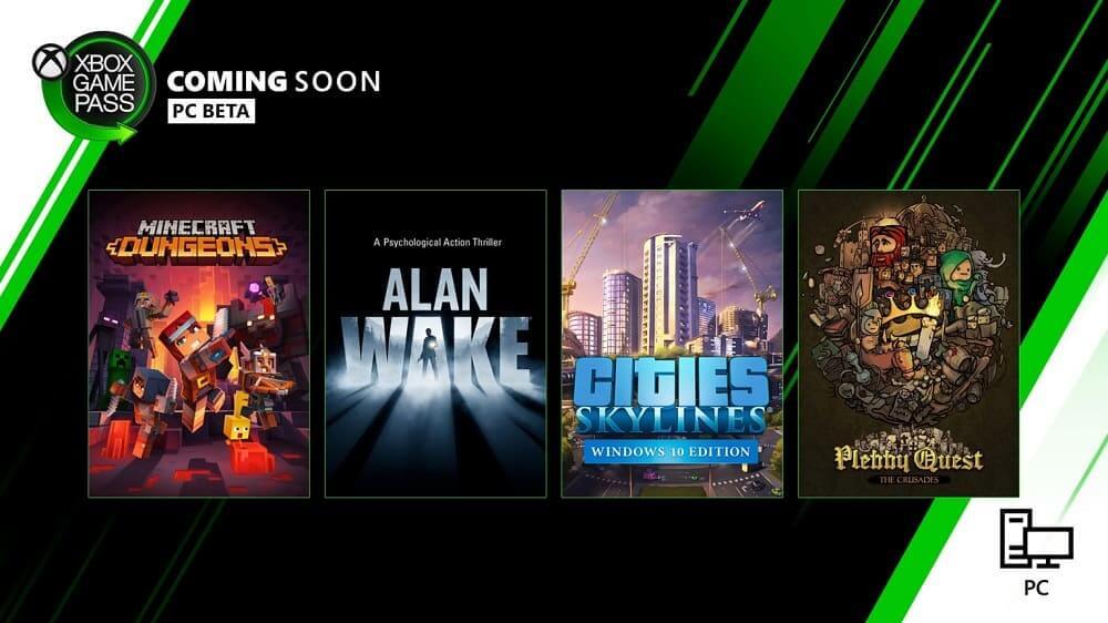 Próximamente en Xbox Game Pass: Minecraft Dungeons, Alan Wake, Cities: Skylines y más