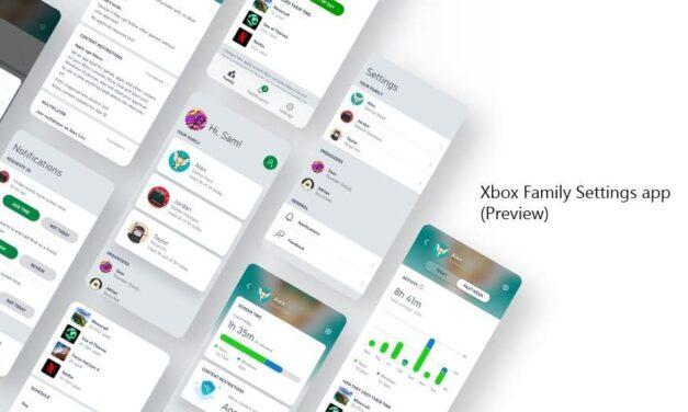 Xbox anuncia la app Xbox Family Settings (versión preliminar)