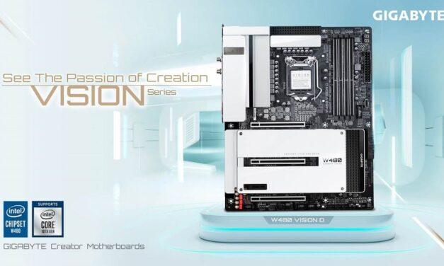 Las placas base de la serie GIGABYTE W480 VISION mejoran la integración de la estación de trabajo y la experiencia del creador