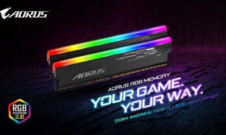 GIGABYTE presenta AORUS RGB MEMORY 4400MHz 16GB