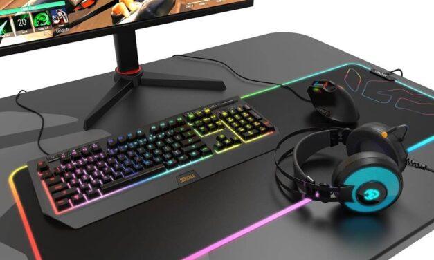 Krom presenta Kaox, un ratón vertical ergonómico con iluminación RGB